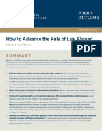 How to Advance the Rule of Law Abroad