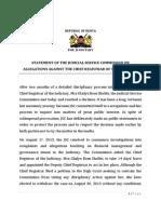 JSC Statement on Dismissal of CRJ