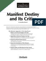 Manifest Destiny and Its Critics - Burack