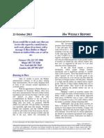 Venezuela Weekly Report 21 October 2013