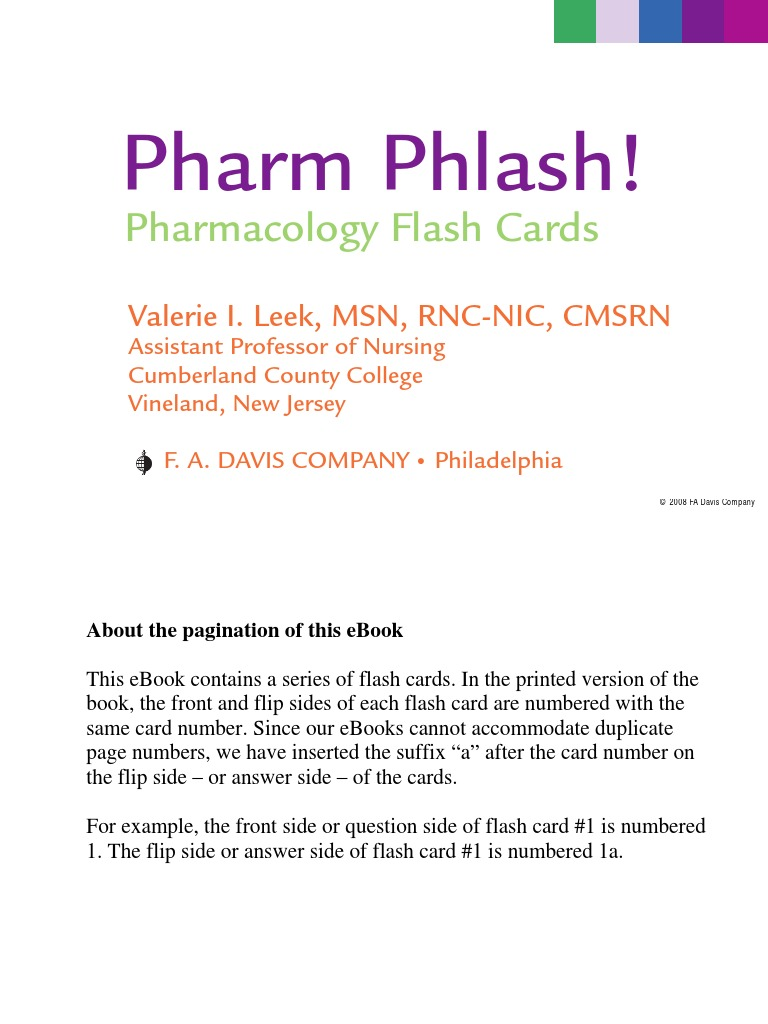 Pharm phlash pharmacology flash cards fandeluxe Image collections