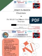 Documentación de PRISMA/NSA publicada por Le Monde