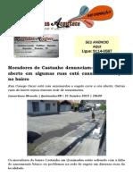 Moradores do Castanho denunciam Esgoto a céu aberto em algumas ruas está causando doenças no bairro