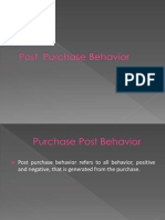 Purchase Post Behavior