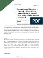 Adolfo Vásquez Rocca Habermas Foucault y Sloterdijk