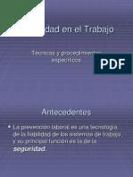 Seguridad en el Trabajo Técnicas y procedimientos específicos