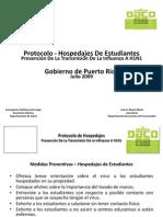 Protocolo hospedajes para la gripe AH1N1 en Puerto Rico