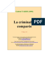 Tarde Criminalite Comparee