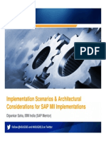 1105 Implementation Scenarios Architectural Considerations for SAP MII Implementations