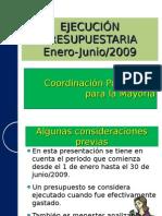 Cuadernillo-Ejecución presupuestaria 2009