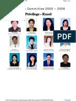 Tawau Toastmasters Club Executive Committee 2005/2006