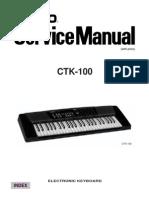 Casio CTK100 Service