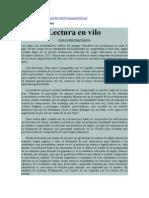 Lectura en vilo. Carlos Martínez García