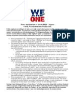 We Are One IL - House Amendments to SB 1 Fact Sheet