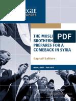 The Muslim Brotherhood Prepares of a  Comeback in Syria