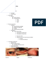 Causes of red eye  for Medical Finals (based on Newcastle university learning outcomes)