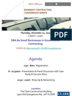 SBA 8a Small Businesses in Government Contracting