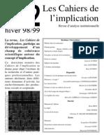 Cahiers Implication n2