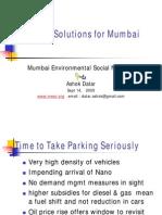Parking Solutions for Mumbai 25.6.12