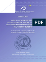 Artiles 2009. Análisis y utilidad de un SGID (Sistema de gestión integral de destino) como herramienta para la competitividad de un destino turístico
