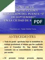 42 CAMINOS II - DISEÑO RECONSTRUCCION AMPLIACION PUENTE 17 SET MILAGRO