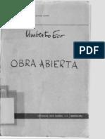Umberto Eco - Obra Abierta (1965)