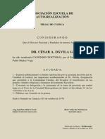 Publicaciones en Diarios, por Canongía Doctoral del P. Dávila, 1978