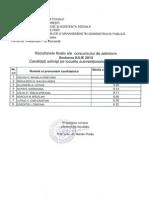 Rezultate Master Iulie 2013
