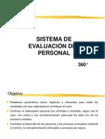 SISTEMA DE EVALUACION DEL PERSONAL 360°