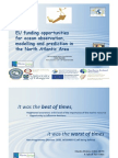 G O'Sullivan EU funding opportunities for ocean observation, modelling and prediction in the North Atlantic Area