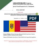 Report Outbound Project Moldova. Mariana Buruiana
