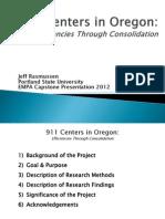 EMPA 911 Centers in Oregon Rasmussen