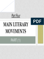 Part (4) Modern Literary Movements -1