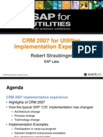 CRM for Utilties Implementation Experience