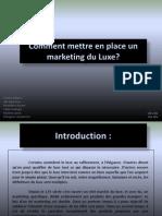 Markting Du Luxe-m-lenot