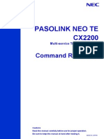 Pasolink Neo Te Cx2200_command Reference Ver_02.05