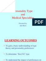 MBTI - Personality Type Medical Specialties