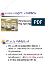 Mark Old Corne Microbiological Validation