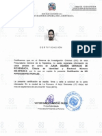Certificacion de La Policia