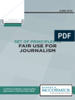 Principles in Fair Use for Journalism