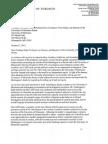 Lemmens Final Letter Senate University of Minnesota Oct 21 2013