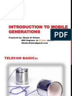 Introduction toIntroduction to Mobile Generations Mobile Generations