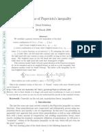 Generalization Popvicious Inequality
