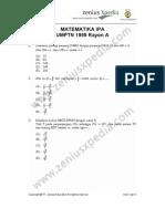 Matematika IPA UMPTN 1999 Rayon A (www.alonearea.com)