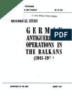 DA PAM 20-243 Antiguerrilla Ops in the Balkans (1954)