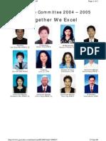 Tawau Toastmasters Club Executive Committee 2004/2005