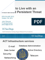 Learning to Live with an Advanced Persistent Threat (177900234)