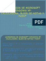 ACCESORIOS DE WINDOWS XP 6°