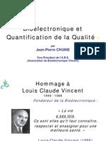 Bioélectronique et Quantification de la Qualité