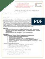 Programa Del Seminario Fundamentacion de La Sistematizacion de Los Proyectos de Profundizacion